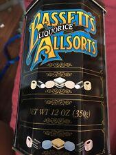 Bassetts Liquorice Allsorts Tin 12oz Black Octagon Empty 8 Sided