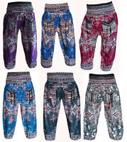INDIAN BAGGY GYPSY HAREM PANTS YOGA MEN WOMEN STYLISH BATIK PRINT TROUSERS h