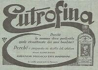 W4370 EUTROFINA ricostituente - Pubblicità del 1930 - Vintage advertising