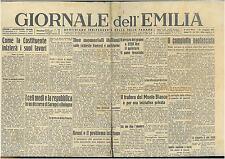 GIORNALE DELL'EMILIA 23  MAGGIO 1946 GIORNALI DELLA REPUBBLICA