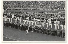 WWII GERMAN- Large 1936 OLYMPIC Sports Photo Image- Olympic Torch- Enter Stadium
