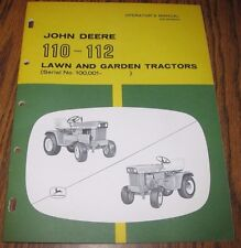 ORIGINAL! John Deere 112 110 Lawn & Garden Tractor Operators Manual Vintage MINT