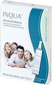 Inqua Inhalationslösung (20 Ampullen á 2.5 ml für 20 Anwendungen) Neu
