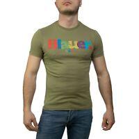 Blauer 19SBLUH02152 T-Shirt da Uomo in Cotone Verde tg XXL Girocollo -20%