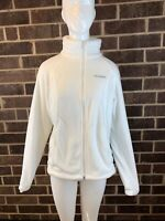 "Women's Columbia ""Fleece Falls II"" Full Zip Fleece Sweaters Jacket White Size M"