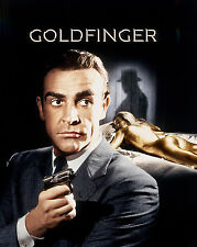 James Bond Goldfinger UNSIGNED poster photo -H7156- Sean Connery & Shirley Eaton