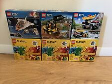 LEGO City Lot Of 3 Sets 60240 60219 60224 NIB + 3 Classic Boxes (6 total sets)