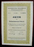 Bayerische Malzbank 10000 Mark München 1923