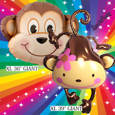 "2PC 36"" MONKEY SAFARI ANIMAL Centerpiece BALLOON balloons BIRTHDAY PARTY SUPPLY"