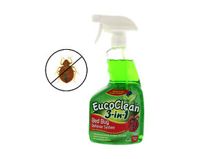 All Natural Eucoclean Bed Bug Killer, Flea & Dust Mite Defense, 750ml Spray