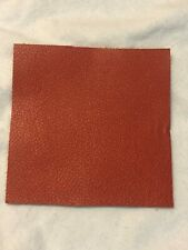 New listing Red Leather Scrap (1) Size 4 x 4 Square Soft Leather
