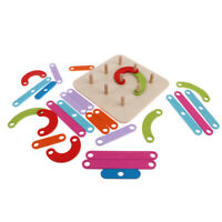 Wooden Educational Toy - Colorful Column Building Blocks Kids Montessori Toy