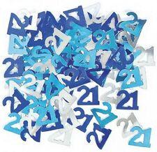 14g 21th Blue & Silver Birthday Party Glitz Table Confetti Sprinkles Decorations