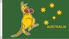 15991 BOXING KANGAROO FLAG AUSTRALIAN AUSTRALIA DAY AUSSIE FLAG POLE GREEN GOLD