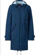 Trendy Mantel mit Stickerei am Saum und farbigem Innenfutter Gr.38