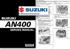 Suzuki AN400 Burgman Skywave Taller Taller De Servicio Reparación Manual un 400 2007 en