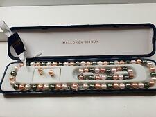 Original Stunning mallorca bijoux pearls gold plated. Necklace bracelet earings
