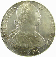 1791-Mo FM  Mexico  8 Reales  Km# 109  XF-45 Details Cleaned  ANACS  Silver