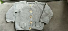 Baby Grey Knitted Cardigan Matalan 3-6 Months