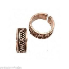 Lot 2 Copper Plated Finger Rings Adjustable Sizes 9-11 Med/Large Size Mix