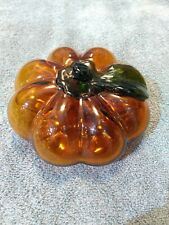 Amber Glass Color Murano Style Pumpkin