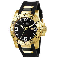 Invicta Excursion Men's 49.5mm Stainless Steel Gold Plated Black Dial 6225 NEW