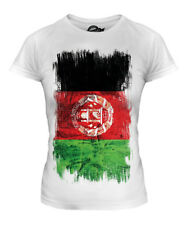 AFGHANISTAN GRUNGE FLAG LADIES T-SHIRT TEE TOP AFGHANESTAN FOOTBALL AFGHAN SHIRT