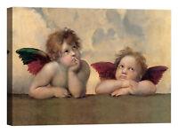 Raffaello Angeli - Madonna Sistina Stampa su tela Canvas effetto dipinto