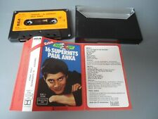 MC PAUL ANKA - TAKEOFF 16 SUPERHITS  RCA 1976 Musikkassette Kassette Tape RAR