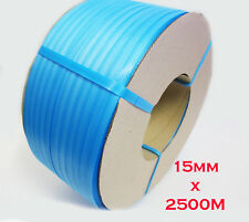 15mm x 2500m Blue Band Poly Strap 130kg load Strapping Polypropylene Packing
