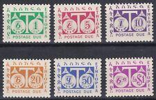 Ethiopia: 1951, J57 - J62, Postage Due, MNH