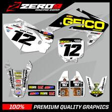 Custom MX Graphics Kit: HONDA CR 85 03- 08 CRF 150 07 - 20 - GEICO HONDA CAMO