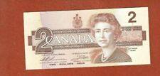 1986 Two Dollar Bank Note Gem Uncirculated Nice Crisp Bank Note E774