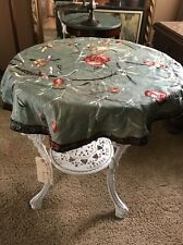 Antique Chinese Embroidered Silk Table Cover Round Estate