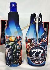 2017 77th Sturgis Motorcycle Rally Uncle Sam Racer Zip Up Bottle Koozie #6025