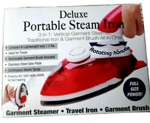 Deluxe Portable Steam Iron 3 in 1 Steam Iron with Garment Brush