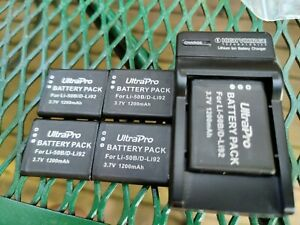 5x LI-50B BATTERY FOR OLYMPUS TG-820 iHS STYLUS Tough 6020 8000 w charger