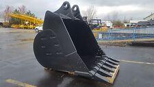 """New 72"""" Doosan Dx520 Heavy Duty Excavator Bucket with Pins"""