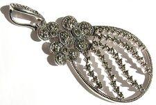 RAY OF LIGHTFLOWERS 76 x Markasit 925 Silber großer stabiler Filigran Anhänger