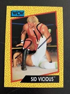 WWF WWE WCW 1991 Impel Trading Card Sid SIGNED rare