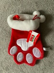 NEW WITH TAGS KONG DOG / CAT PAW CHRISTMAS STOCKING