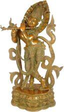 Large NICE Gopal Krishna Fluting Jai GOD Statue 2.8 ft Brass Hindu Figure 30 KG