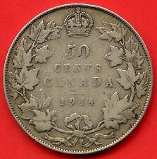 1914 Canada Silver 50 Cent Piece ( 11.66 grams .925 Silver )