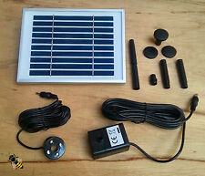 Solar Fountain Pump Battery Backup LED Lights Pond Water Feature NEW