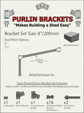 Attached Skillion Lean-to Shed 8inch C Section Purlin Bracket Set-Garage-Farm