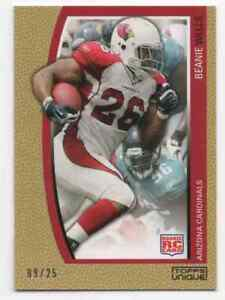 2009 TOPPS UNIQUE GOLD PARALLEL ROOKIE CARD BEANIE WELLS #D /25 SP CARDINALS