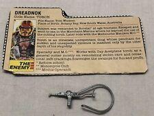 Vintage Gi Joe Torch 1985  File Card/pew Pew