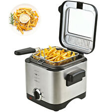 Friteuse 1,5 Liter Fritöse inklusive Filter 900 W Fritteuse EDELSTAHL für Pommes