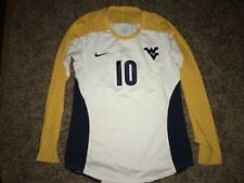Nike West Virginia Mountaineers #10 Womens Volleyball L/S White Game Jersey *L*