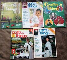 Lot of 5 Crafts 'n things Magazines Oct/Nov 76 Dec/Jan 76/77 Jan-Mar 84 Jul 85
